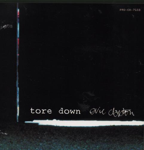 Eric Clapton Tore Down 1994 USA CD single PROCD7150 lowest price