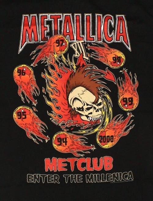 Metallica The Metallica Club 2000 2000 USA tshirt TSHIRT