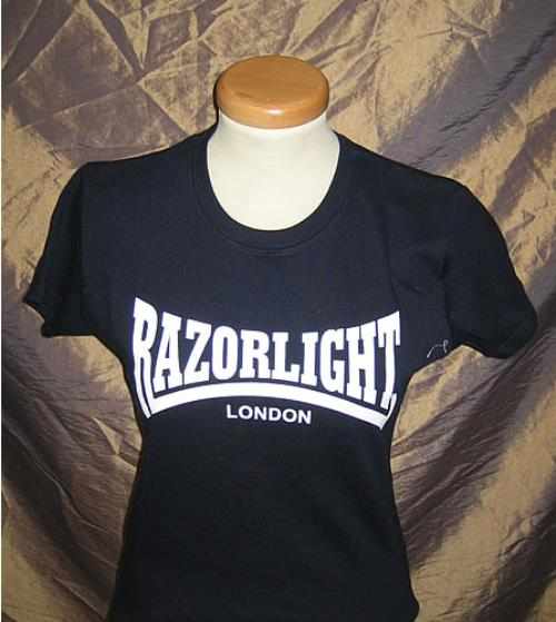 Razorlight Razorlight  Navy Blue  Size Small UK tshirt PROMO TSHIRT
