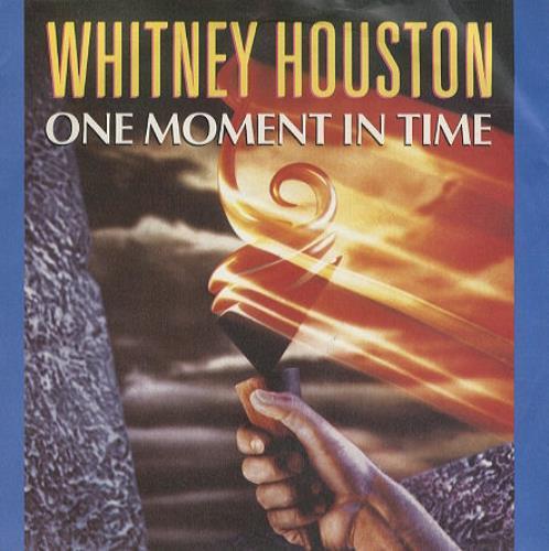 """Whitney Houston One Moment In Time 1988 UK 7"""" vinyl 111613"""