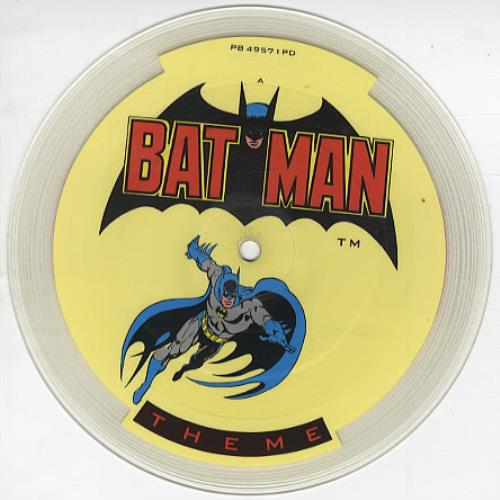 "Image of Batman & Robin Batman Theme 1988 UK 7"" picture disc PB49571PD"