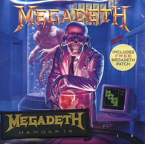 Megadeth Hangar 18  Patch 1990 UK 7 vinyl CLS604