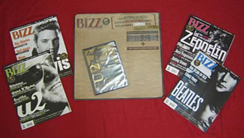 U2 Bizz A Historia Do Rock  The Joshua Tree DVD 2005 Brazilian magazine MAGAZINE  DVD