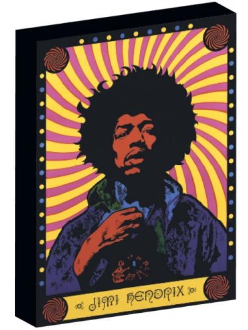 Jimi Hendrix Psychedelic Image Canvas Print 2006 UK memorabilia CV90009