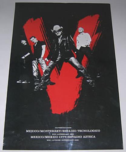 U2 U2Vertigo2006  Set Of 3 Mexican Tour Posters 2006 Mexican poster POSTERS