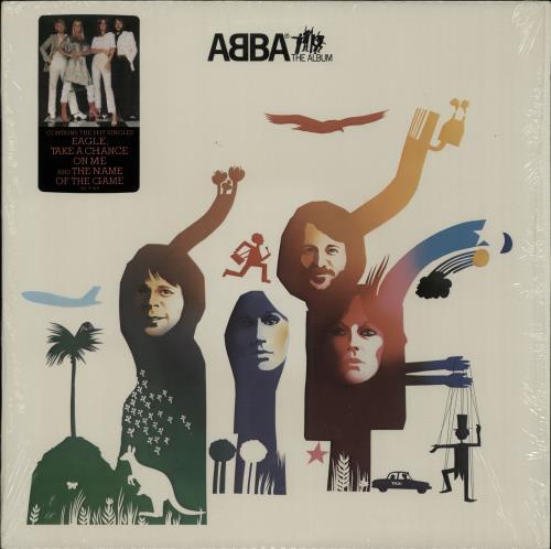 Abba Abba The Album  Hit Singles Sticker 1977 USA vinyl LP SD19164