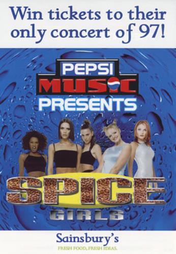Spice Girls Pepsi Music Presents 1997 UK handbill SET OF THREE HANDBILLS