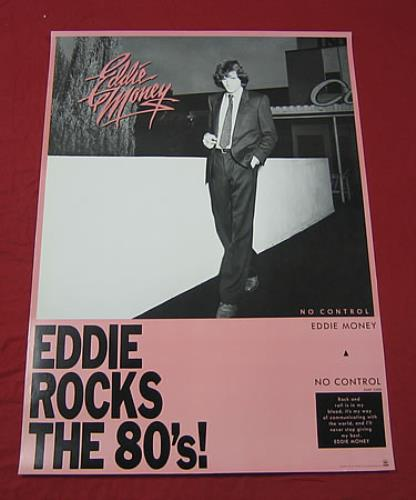 Image of Eddie Money No Control 1982 Japanese poster PROMO POSTER