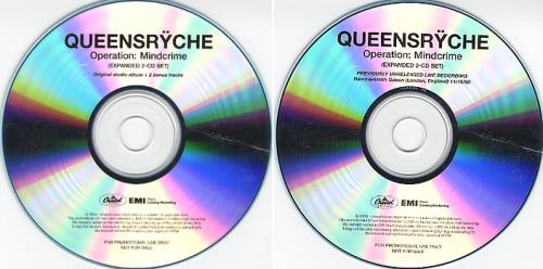 Queensryche Operation Mindcrime 2006 USA CDR acetate CDR ACETATE