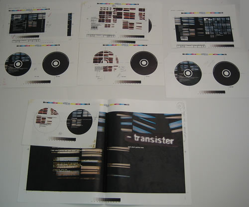 Transister Look Whos Perfect Now 1998 UK artwork PROOF ARTWORK