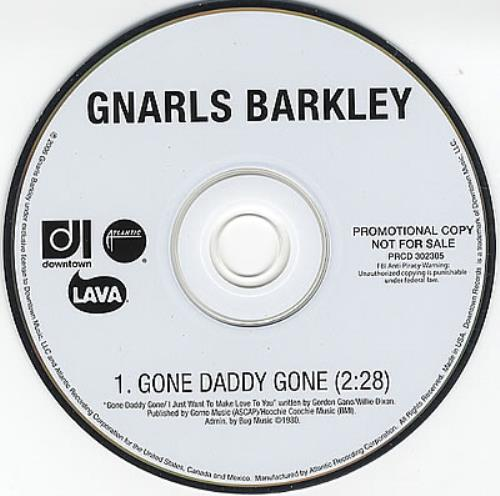 Gnarls Barkley Gone Daddy Gone 2006 USA CD single PRCD302305