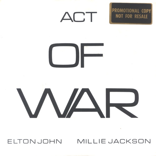Elton John Act Of War 1985 UK acetate EJS8