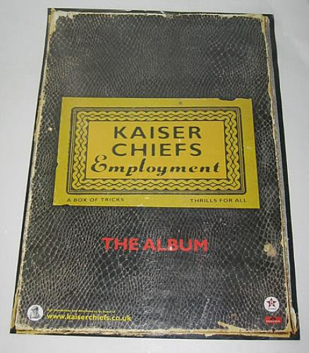 Kaiser Chiefs I Predict A RiotEmployment  Set Of 2 Posters 2005 UK poster PROMOTIONAL POSTERS
