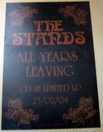 The Stands All Years Leaving  Set Of 2 Posters 2004 UK poster PROMO POSTER SET