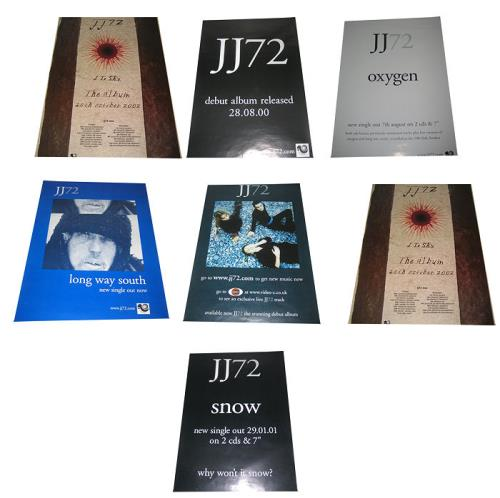 JJ72 Set Of 7 Promotional Posters UK poster PROMO POSTERS