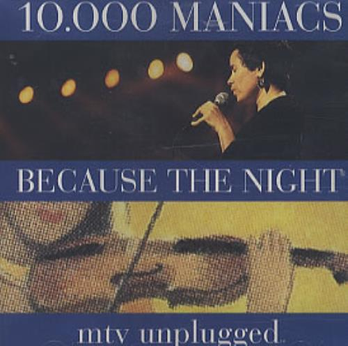 Image of 10,000 Maniacs Because The Night 1993 USA CD single PRCD8846-2