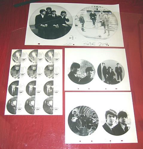 The Beatles Baktabak Proof Artwork x 7 UK artwork PROOF ARTWORK