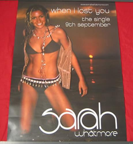 Sarah Whatmore When I Lost You  Set Of 2 Posters 2002 UK poster PROMO POSTERS