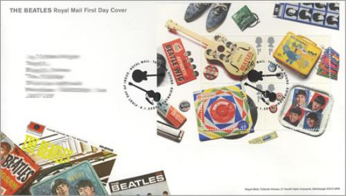 Image of The Beatles First Day Cover - Philatelic Bureau Postmark 2007 UK memorabilia FIRST DAY COVER