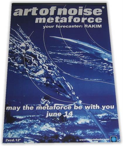 Art Of Noise Metaforce 1999 UK poster 20 X 30