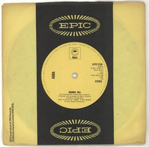 Abba Mamma Mia  Yellow Labels 1975 UK 7 vinyl SEPC3790