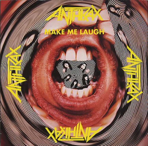 "Image of Anthrax Make Me Laugh 1988 UK 7"" vinyl IS379"