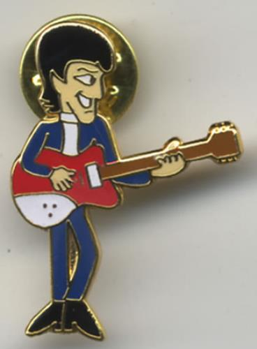 The Beatles Cartoon Metal Pin Badge USA badge PIN BADGE
