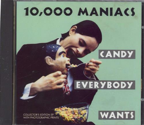 Image of 10,000 Maniacs Candy Everybody Wants + Prints 1993 UK CD single EKR160CDX