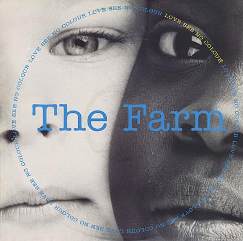 "Image of The Farm Love See No Colour + White Label 1991 UK 12"" vinyl MILK106T"