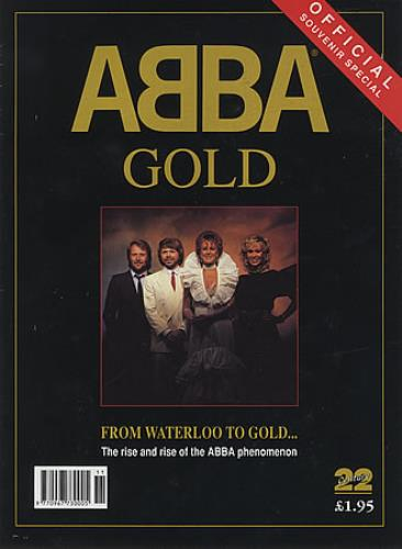 Abba ABBA Gold  Official Souvenir Special 1992 UK magazine MAGAZINE