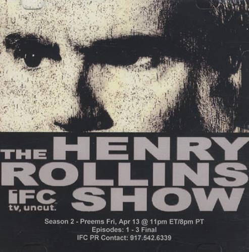 Henry Rollins The Henry Rollins Show 2007 USA promo DVDR DVDR ACETATE