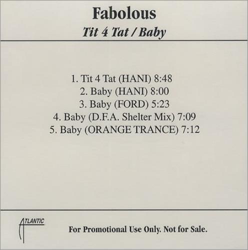 Fabolous Tit 4 Tat  Baby USA CDR acetate CDR ACETATE