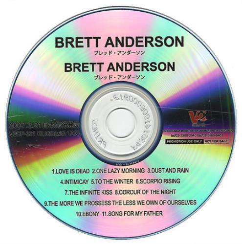 Brett Anderson Brett Anderson 2007 Japanese CDR acetate CDR