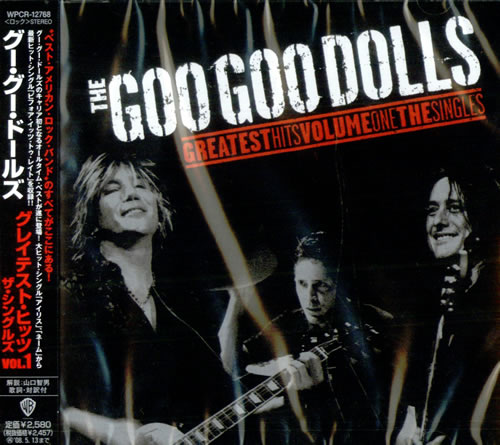 Goo Goo Dolls Greatest Hits Vol. 1  Sealed 2007 Japanese CD album WPCR12768