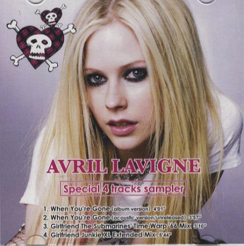 Avril Lavigne Special 4 Tracks Sampler 2007 Japanese CDR acetate CDR