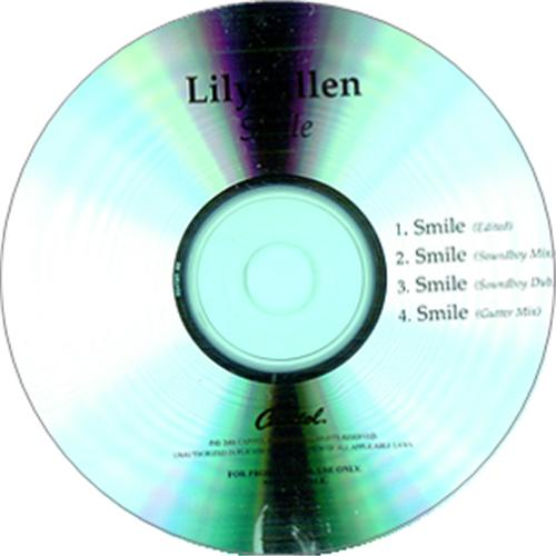 Lily Allen Smile 2006 USA CD-R acetate CD-R ACETATE
