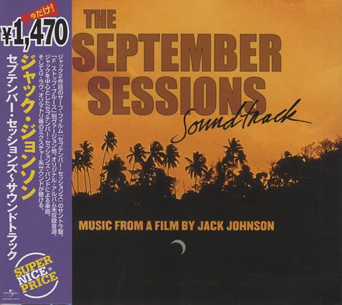 Jack Johnson The September Sessions 2008 Japanese CD album UICY90790