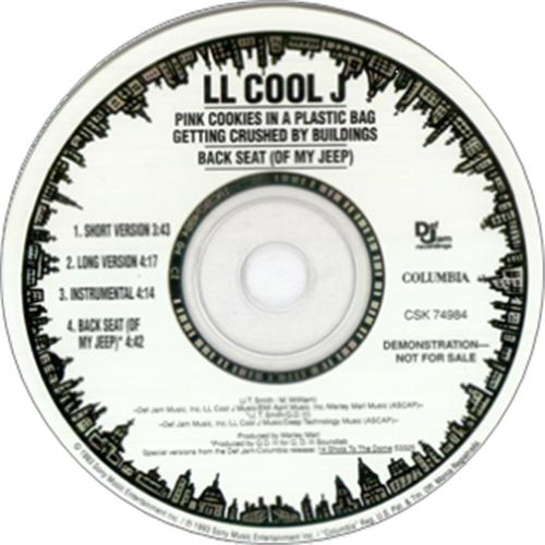 LL Cool J Pink Cookies In A Plastic Bag Getting Crushed By Buildings 1993 USA CD single CSK74984