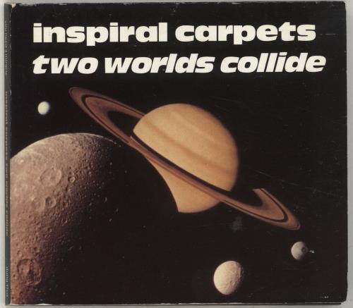 Inspiral Carpets Two Worlds Collide 1992 UK CD single DUNG17CD