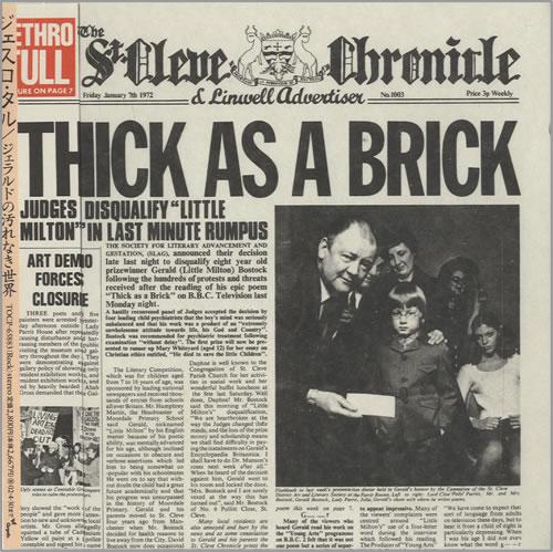 Jethro Tull - Thick As A Brick Vinyl