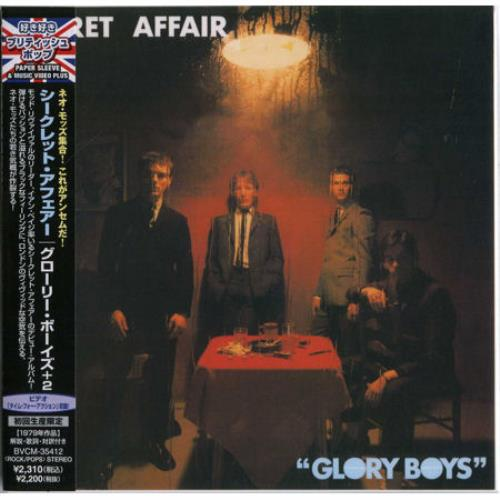 Secret Affair Glory Boys 2008 Japanese CD album BVCM35412