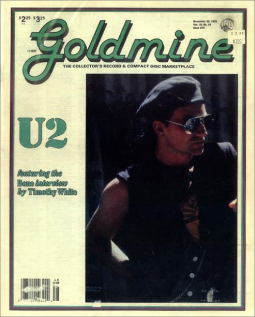 U2 Goldmine 1990 USA magazine VOLUME 16 NUMBER 24 ISSUE 270