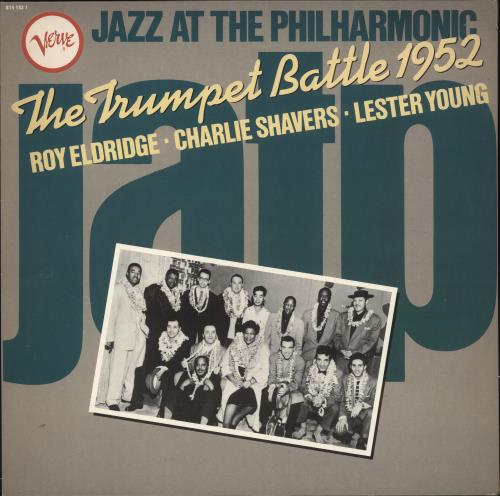 Jazz At The Philharmonic The Trumpet Battle 1952 1983 UK vinyl LP VRV2