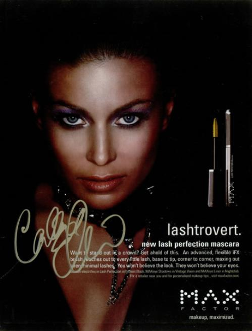Carmen Electra Max Factor Advert - Signed Magazine Page 2008 USA memorabilia SIGNED MAGAZINE PAGE