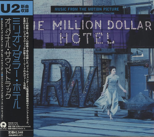 U2 The Million Dollar Hotel 2000 Japanese CD album PHCW1718