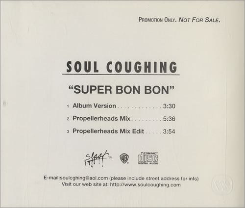 SOUL COUGHING - Super Bon Bon Lp Vers./super Bon Bon Propellerheads Radio Edit/super Bon Bon Propellerheads Mezzanin