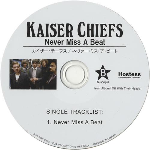 Kaiser Chiefs Never Miss A Beat 2008 Taiwanese CD single KCS01