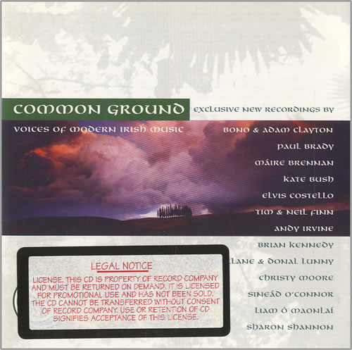 VariousWorld Music Common Ground Voices Of Modern Irish Music 1996 USA CD album 8376912