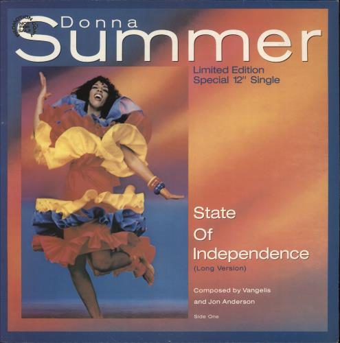 "Image of Donna Summer State Of Independence + Picture Sleeve 1982 UK 12"" vinyl K79344T"