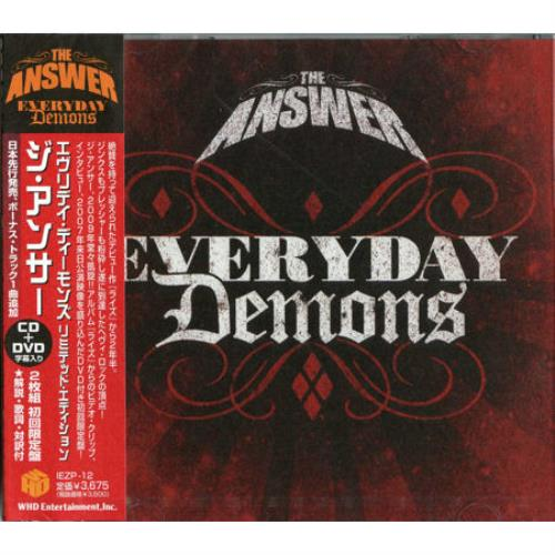 The Answer Everyday Demons 2009 Japanese 2disc CDDVD set IEZP12